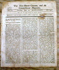 1786 CT newspaper w long excerpt from ADAM SMITH 's Book - THE WEALTH OF NATIONS