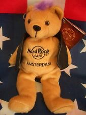 HRC Hard Rock Cafe Amsterdam Punk Bear Mohawk 2011 Purple Hair Herrington