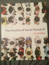 The Practice of Social Research by Earl Babbie (2009, 12th Edition, Hardcover)