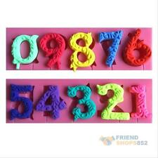 Numbers Silicone Lollipop Mold Fondant Cookware Trays Cake Cookies Baking Mould