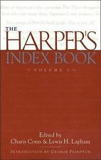 The Harper's Index Book Vol. 3 by Charis Conn and Lewis H. Lapham (2010,...