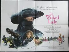 THE WICKED LADY ORIG 1983 CINEMA QUAD FAYE DUNAWAY RALPH BATES MICHAEL WINNER