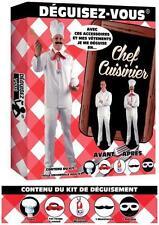 KIT Déguisement CHEF CUISINIER Costume Homme Toque Noeud Médaille