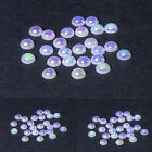 White AB (Aurora Borealis) flat back pearls cardmaking/scrapbooking/weddings
