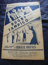 Partition Rugby One Step Tampico Rumba Roger Dufas 1951