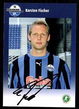 Karsten Fischer Autogrammkarte SC Paderborn 2008/09 Original Signiert +95579
