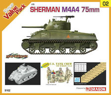 Dragon 9102 1/35 Sherman M4A4 75mm w/DS Track and Figures