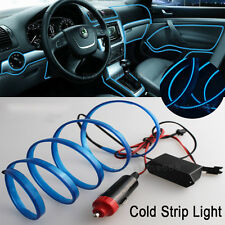 6.5Ft Blue Cold light lamp Neon Lamp EL Wire Atmosphere Fluorescent 2M For BMW