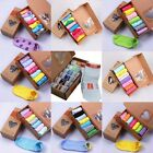 7Pairs Women Ankle Crew Cotton low Casual Sport Candy colors Sock Without box
