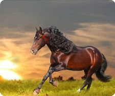 Horse Sunset Thick Mouse Pad