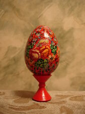 Russian Lacquer Hand Painted Egg end XX century Christ Has Arisen