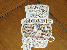 Embroidered Magnet - Christmas - Snowman Face