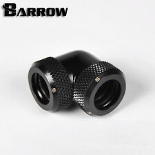 "Barrow G1/4"" Matte Black 90 Degree Dual Compression Fitting 12mm Rigid tube-051"