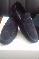 Men's Ermenegildo Zegna $675 Navy Suede Driving Shoes Loafers Size 11 D