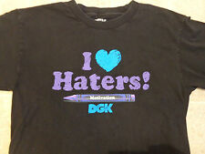 Kids DGK Crayon Crayola T-SHIRT Youth LG I Love Haters Heart Alab Rvca Neff Obey