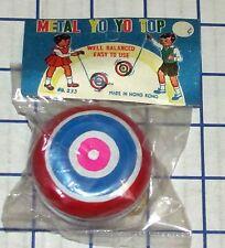 Vintage Metal Yo Yo Top No. 233 Hong Kong 1960s Tin Yo-Yo Mint In Bag