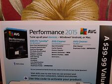 AVG Performance 2015 Unlimited Devices 1 Year - Key Card (Free upgrade to 2016)