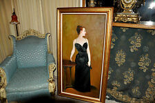 very Large vintage French Decorative Salon Oil painting painting of Madam X