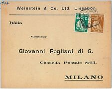 58274 -  PORTUGAL  - POSTAL HISTORY: COVER to ITALY - 1927