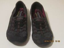 Women's Sketchers Relaxed Fit Memory Foam Shoes Size 9 Speckled Gray/Black