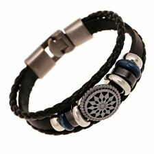 20cm Men Punk Jewelry Leather Charm Braided Wrap Women Cute Bracelet Bangle Gift
