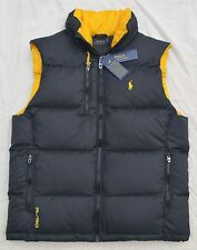 $198 New LARGE L POLO RALPH LAUREN Mens puffer down snow ski vest Black Gilet