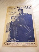 Partition Vergato Duo Nicoli Borrosca Larcange