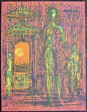 CARZOU.Lithographie signée et numerotée. Carte de vœux 1969 . Dimensions de la c