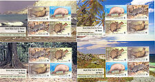 Australia-set of 4 min sheets WWF issue -different backgrounds- mnh