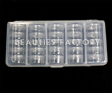 25 x Storage Bottle Plastic Empty Box Case Pot Nail Art Rhinestone Bead #363K