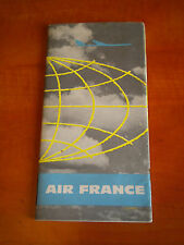 1961 Air france Brochure Long haul northern hemisphere caravelle and Boeing