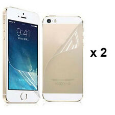 4 Pcs = 2 x (Front+Back) Clear Screen Protector Film  For Apple iPhone 5 5G 5S