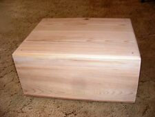 Pet Coffin Casket for Dogs/Cats 18 x 14 x 8.5 All Cedar + Decorative Edge Routed