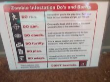 FUNNY A5 ZOMBIE INFESTATION SIGN