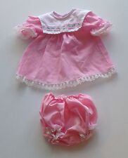 Doll Clothes - Pink Lace Cotton Dress & Bloomers Cabbage Patch Doll