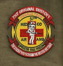 ARMY 57th MED CO AIR AMBULANCE OIF OEF DUSTOFF MILITARY PATCH LOUDER YOU SCREAM