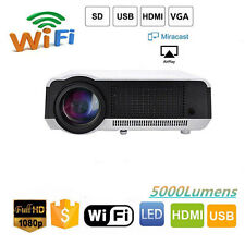 5000Lumens Android WIFI 3D TV Home Cinema HD 1080P LED LCD Projectors HDMI LAN