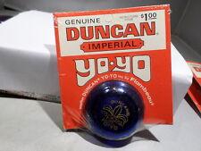 Duncan CARDED UNUSED NOS Imperial YO YO YOYO Dark Blue