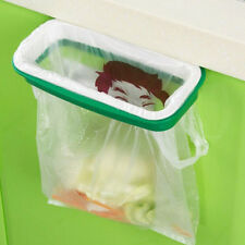 Green Kitchen Garbage Trash Bag Rack Attach Holder Cabinet Cupboard Portable
