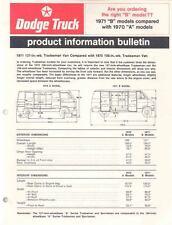 1971 Dodge Tradesman Van Salesman's Brochure wq1832-7LODCA