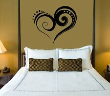 Wall Sticker Vinyl Decal for Bedrooms Heart Love Romance ig1284