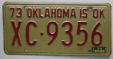 Oklahoma 1974 OKLAHOMA COUNTY License Plate # XC-9356
