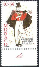 Monaco 2003 Magic/Magician/Dove/Playing Cards/Festival/Animation/Birds 1v n38304