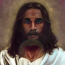 Jesus Christ/Art Print/Poster/Black/God/Messiah/Religious Image 15x15 in.