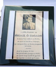 GENERAL MICHAEL COLLINS MEMORIAL CARD IN IRISH PHOTO