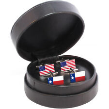 Texas State/USA Flag Cufflink Set lone star state texan houston austin NEW
