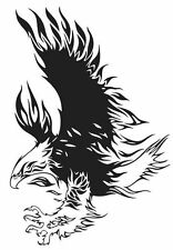 (Nr3) FLYING FIRE FLAME EAGLE HAWK DECAL VINYL STICKER FOR WALL WINDOW TRUCK CAR