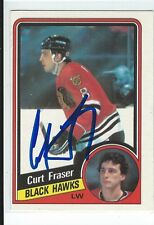 Curt Fraser Signed 1984/85 O-Pee-Chee Card #34