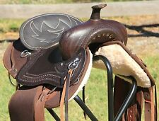 """TN Saddlery FQH 18"""" Western Lightweight Synthetic Saddle Brown"""