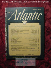 ATLANTIC March 1944 DOROTHY SAYERS VINCENT SHEEAN +++